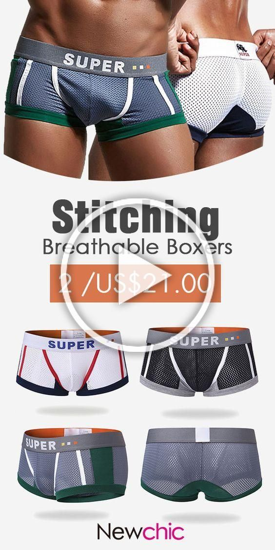 INTERESTPRINT Mens Stretch Boxer Briefs XS-4XL