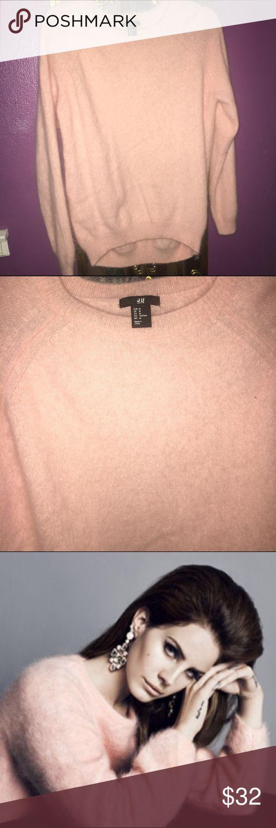 H&M Pink Angora Sweater | D, Angora sweater and Lana del