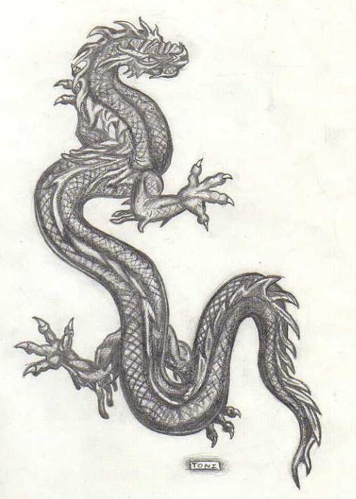 Resultado de imagen para dibujos de dragones chinos a lapiz