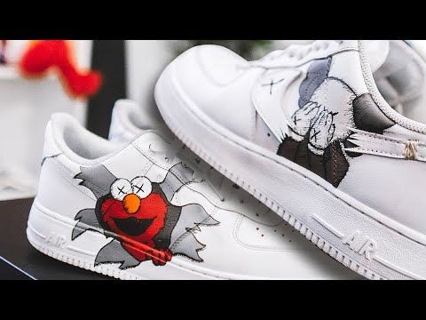 Supreme x Kaws x Nike Air Force 1 Mid Low White Graffiti