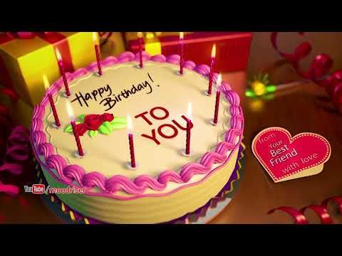 Happy Birthday Song (for your best friend) - Whatsapp Video Status ...