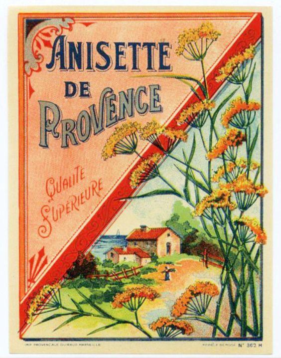 Lovely Vintage Anise Liquor Poster