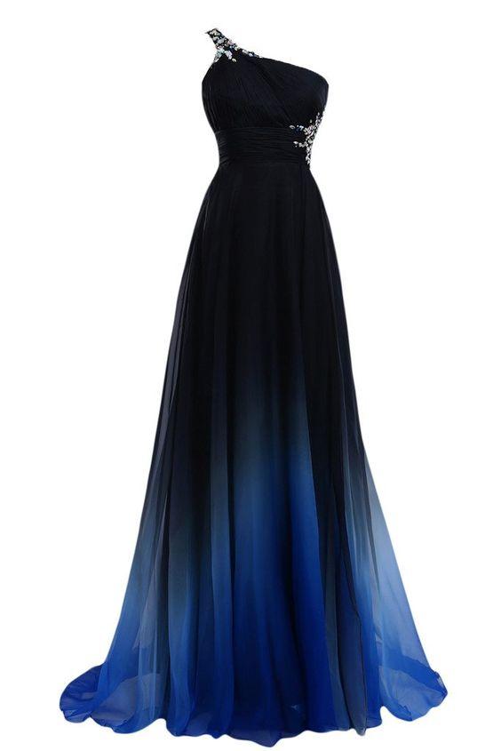 Victory Bridal 2015 Neu Traumhaft Ein-traeger Festkleid Lang Damen Abendkleider Ballkleider Partykleider -36 Dunkelblau