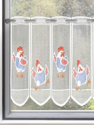 Süsse Scheibengardine mit Hühner.