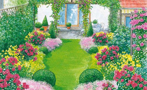 Ein Reihenhausgarten aus der Reihe Sonnenbraut, Reihenhausgarten - reihenhausgarten vorher nachher