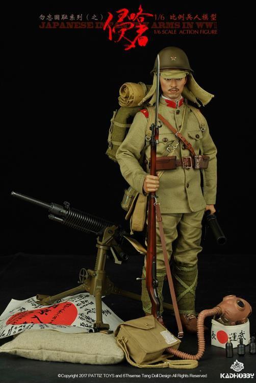 "Machine Gun for Pattiz Japanese Army 1//6 Scale 12/"" Action Figure"