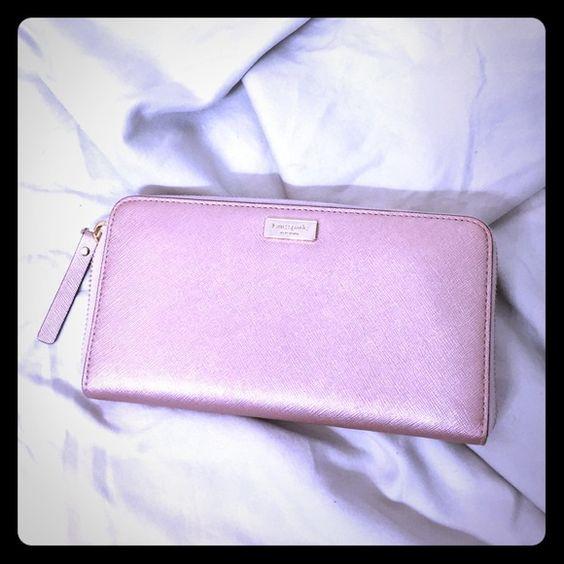 Flash SaleKate Spade Metallic Pink Wallet Kate Spade Metallic Pink Wallet. Used once, Excellent Condition kate spade Bags Wallets