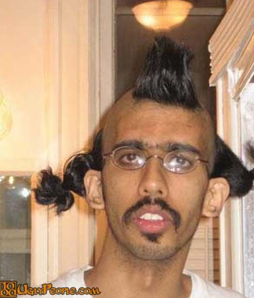 Ugly hairstyle hair fashion hairstyle fail ugly man with strange winobraniefo Images