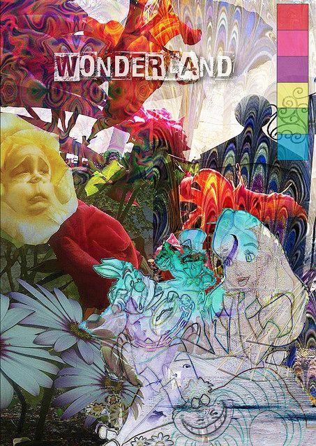 My Wonderland collection moodboard - Alice in Wonderland