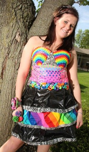 duct tape prom dresses | She makes duct tape prom dress - The N'West Iowa REVIEW: News