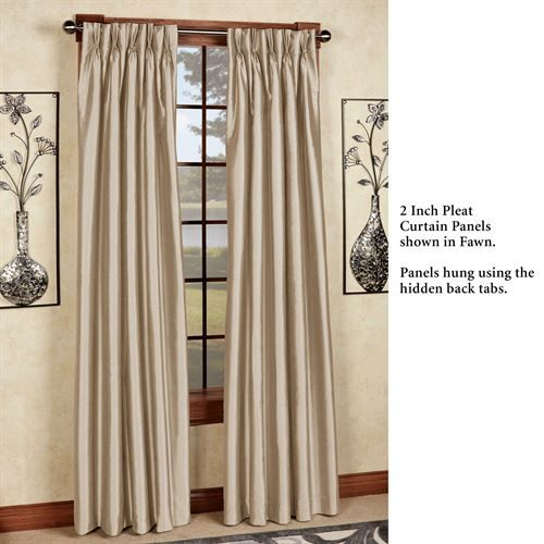 Marquee Flared Faux Silk Pinch Pleat Curtain Panel Panel Curtains Pinch Pleat Curtains Curtains
