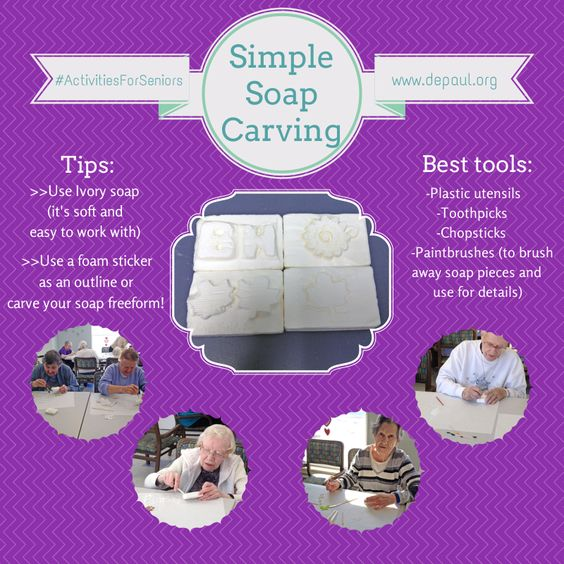 A Simple Easy And Fun Activity For Seniors Soap Carving