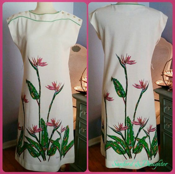 Check out this item in my Etsy shop https://www.etsy.com/listing/463503827/aloha-bird-of-paradise-dress-from-the