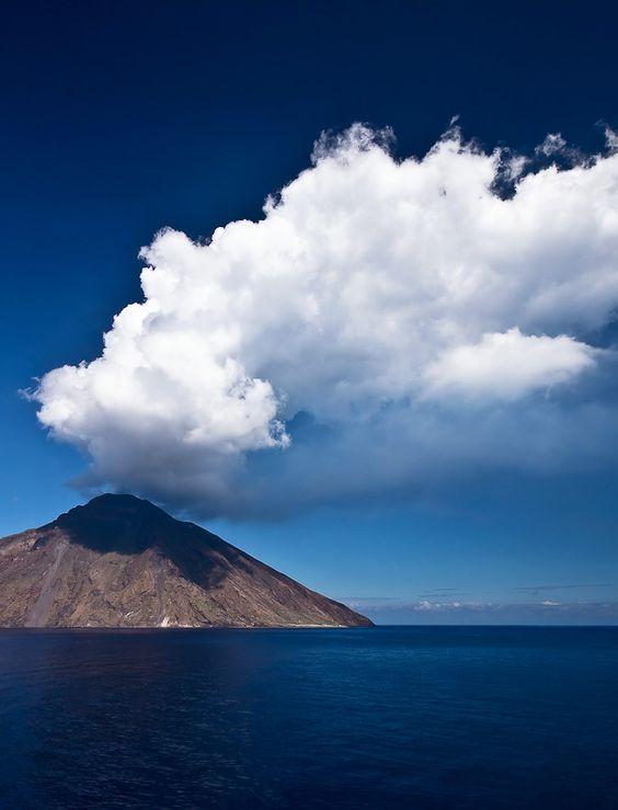 Mt. Stromboli, Italy, province of Messina Sicily