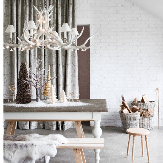 Christmas Dining table Scandi style