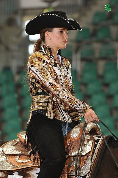 """Cathrin Gutmann at Bavarian Summer Show wearing """"Paid my Dues"""" jacket by """"La Collezione di Anna"""""""