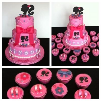 Barbie Silhoutte cake By Taaartjes on CakeCentral.com