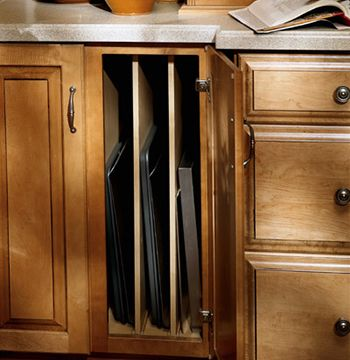 Kitchen Cabinets Ideas Vertical Cabinet Dividers Don T Forget The Cookie  Sheet