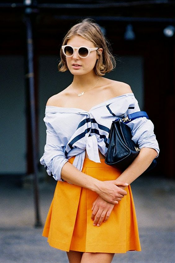 Sunday's Inspiration: How To Wear A Knotted Shirt | BeSugarandSpice - Fashion Blog