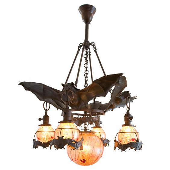 Antique bat chandelier from Austria: