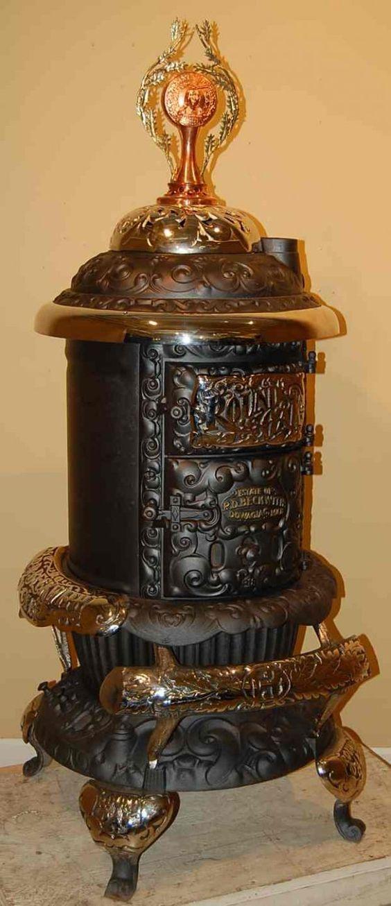 round oak parlor stove | 20: ROUND OAK DUPLEX PARLOR STOVE - Round Oak Parlor Stove 20: ROUND OAK DUPLEX PARLOR STOVE