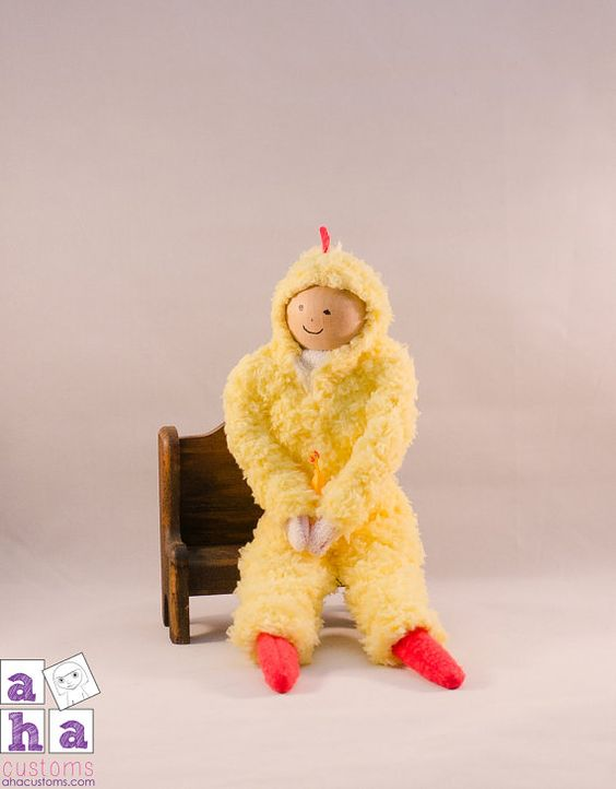 Chicken Costume for Holiday Elf  Made to Order by ahacustoms