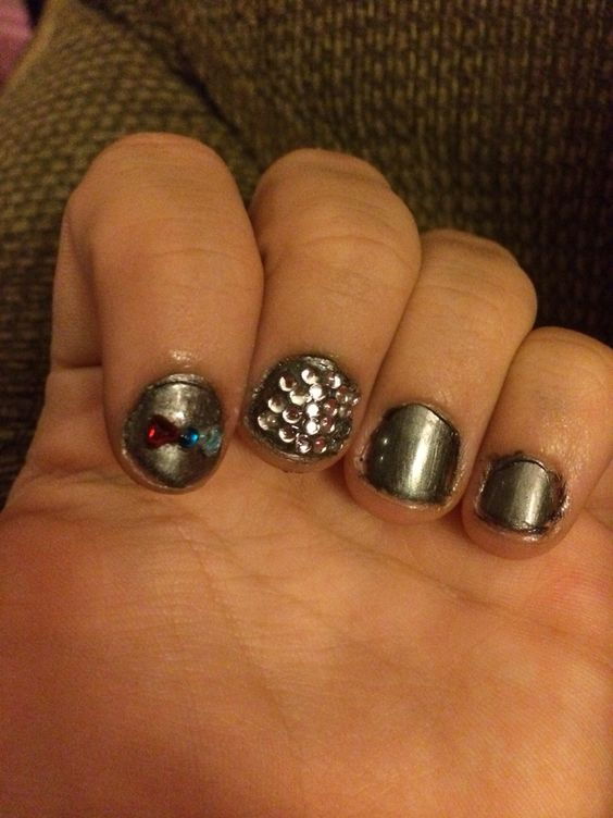 What I did to my nails today.