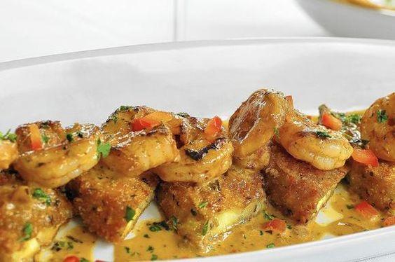 Recipe for Brio Tuscan Grille's Spicy shrimp and eggplant appetizer #MyBrioRecipes