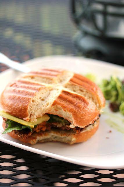 Sandwich this Maple Chipotle Sweet Potato Burger in a pretzel bun for total handheld perfection.