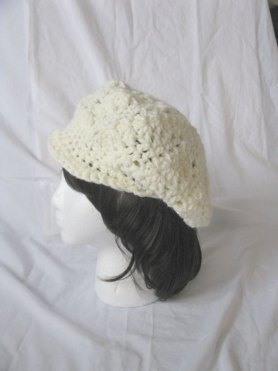 Cream Fashionably Trendy Crochet Slouchy by DebsHandmadeBoutique, $15.00