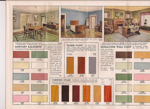 Interior colors available from gordon van tine in 1920s Home interior paint schemes