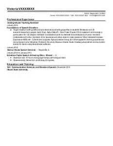 speech therapy resume Mr  Resume slp resume cover letter example