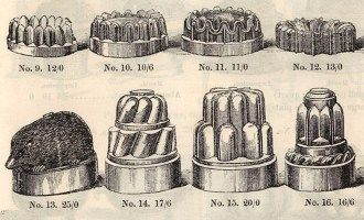 Household Goods. Moulds for jelly, cake etc p77, In: Benham and Sons, Manufacturing and Furnishing Ironmongers, 19, 20 & 21, Wigmore Street, Cavendish Square, London: c1868 catalogue. From HHT Digital Trade Catalogues Collection.