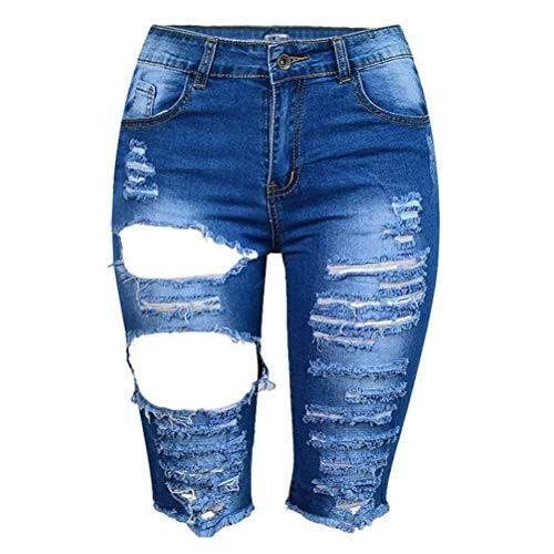 Pantalones Cortos De Mezclilla Con Cintura Y De Alta Bastante Borla Jean Para Mujer Agujero E Pantalones De Mezclilla Pantalones Cortos De Mezclilla Pantalones