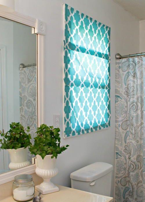 Bathroom Roman Shade Ideas : Roman shades diy bathroom ideas and on