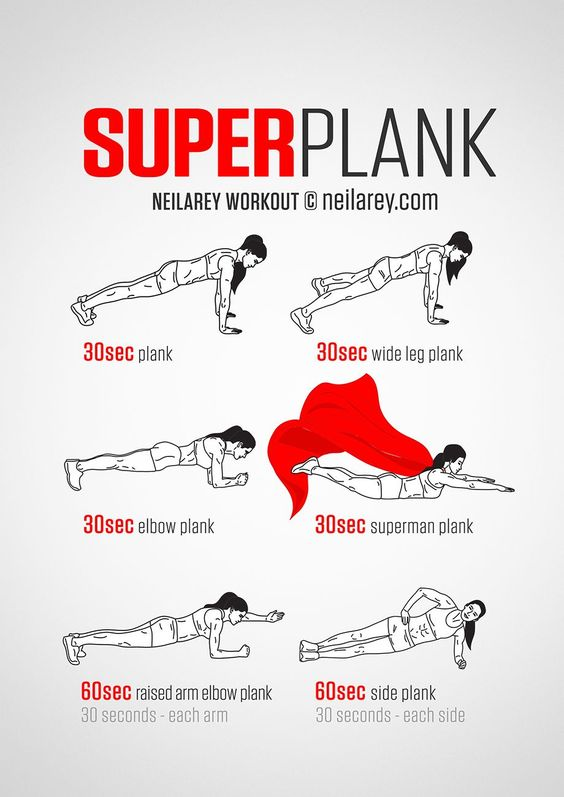 Superplank 4-Minute Workout. I can definitely do all of these for, like, 1-10 seconds each. But how do I get my cape to billow out like that?