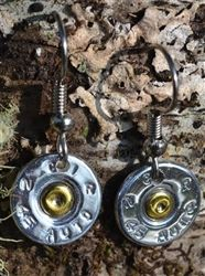 45 caliber dangle earrings! Awesome handmade bullet jewelry by Spent Rounds Designs!