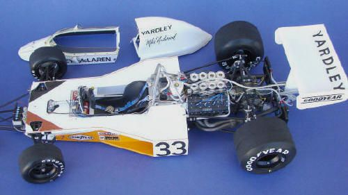 Yardley McLaren M23 Tamiya escala 1/12