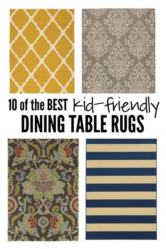 10 of the Best Kid-Friendly Dining Table Rugs on10 of the Best Kid-Friendly Dining Table Rugs on@Six Sisters