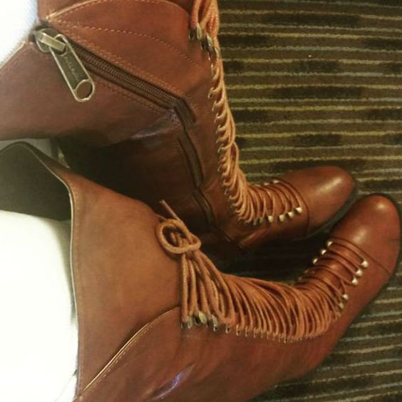 Amazing Brown Combat Boots