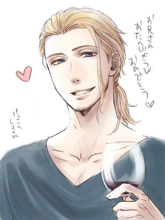 Francis' look in this is rather different from what I usually see. - Art by おせお@はるT18b on Pixiv, found via Zerochan: