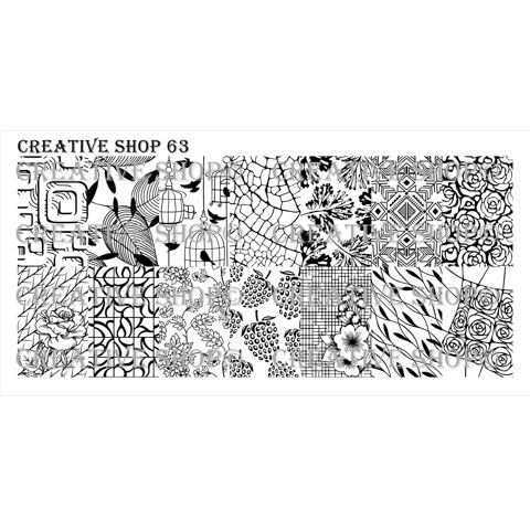 Creative Shop- Stamping Plate- 63