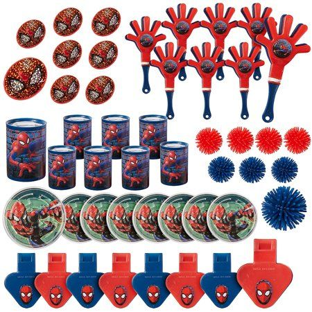 Party Supplies Value Pack Spider-Man Party Favor Pack