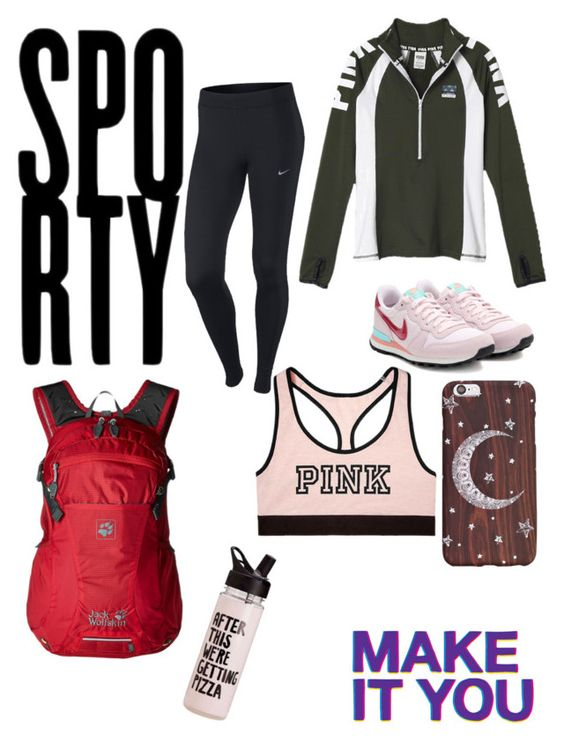 """""""Those sports days"""" by jesca27 on Polyvore featuring Converse, Victoria's Secret, NIKE, Miss Selfridge and Jack Wolfskin"""