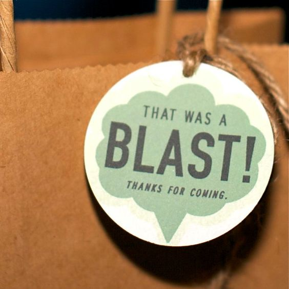 Mad Science Party Favor Tag from the Mad by SpaceshipsLaserBeams