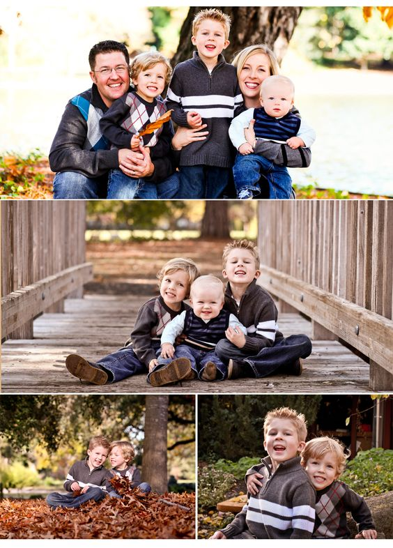 Love the image of the boys on the bridge.  The baby's expression is priceless!