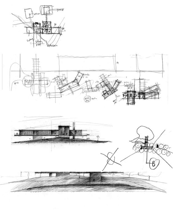 How Architecture Is Born Pencil Sketches By Tom Kundig And The