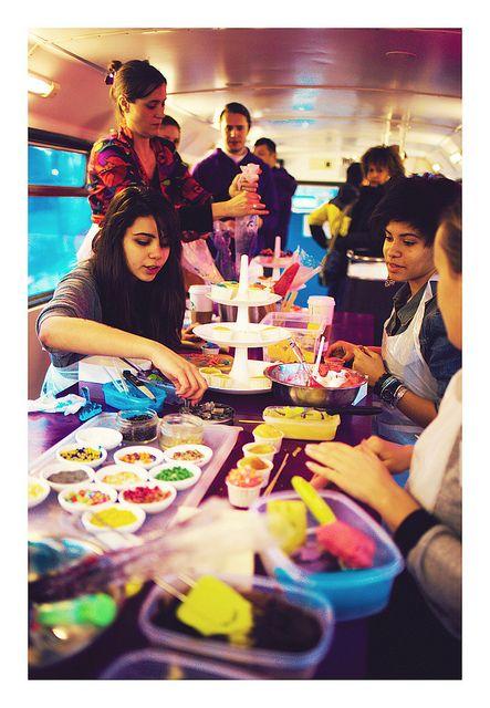 Atelier Cupcakes dans le #SOSHBUS