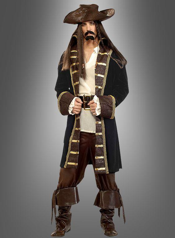 Designer Pirat Deluxe Kostüm bei Kostuempalast.de