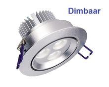 LED Inbouwspot 3 x 1 watt Dimbaar Zilver  18.50 per stuk dimbaar bij www.ledgu10dimbaar.nl